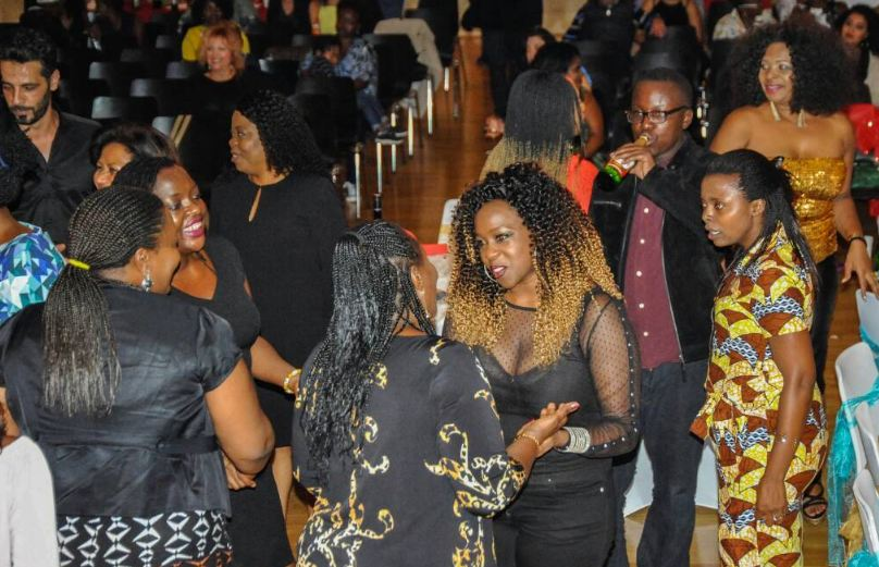 Angella Katatumba mingles with guests  at the African Gala in Vienna