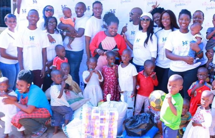 Juliana Kanyomozi donates to orphanage