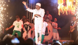 Diamond Platnumz performs at the Kampala City festival charity concert