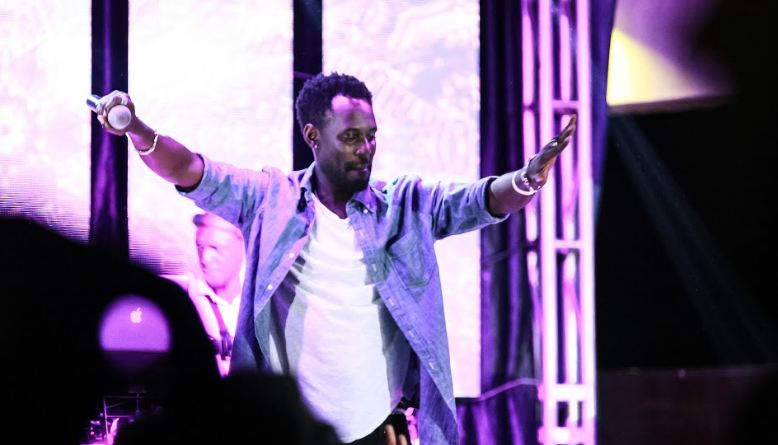 Maurice Kirya entertains revelers during the Jack Daniels officially launch in Uganda