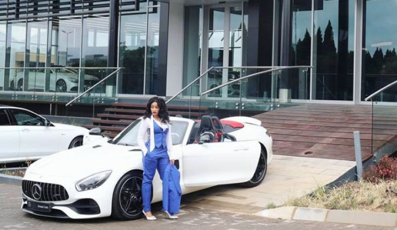 Socialite Zari Hassan acquires a Mercedes Benz - AMG GT Roadster.
