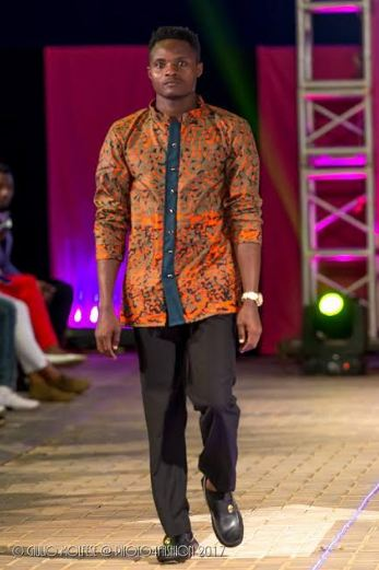 Joseph Etiang on the run way at Hot Pink Catwalk Charity Show