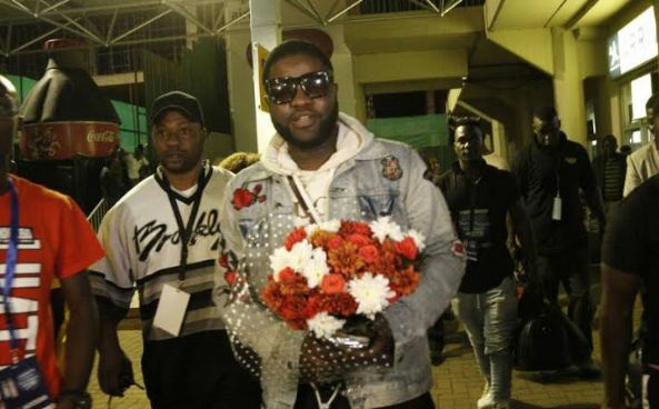 Nigerian singer Skales arrives in Uganda