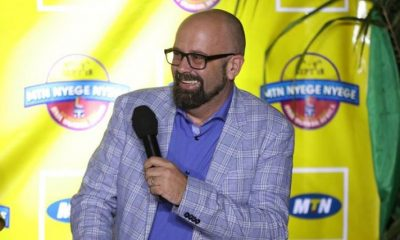 Olivier Prentout, the Chief Marketing Officer MTN Uganda, addresses guests during the launch.