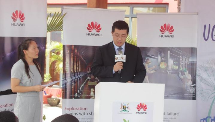 Huawei's New Managing Director Mr. Liujiawei giving his speech at the Seeds for the Future launch ceremony.