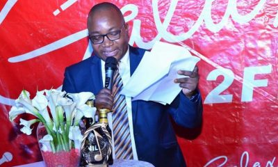 Galaxy FM CEO Nahabwe Innocent announcing the 2018 Zzina Awards nominees.