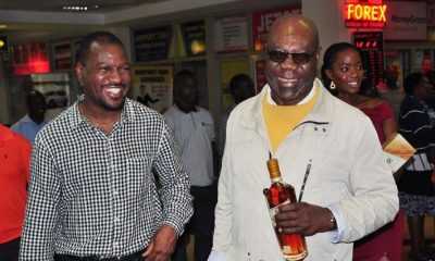 Isaiah Katumwa welcomes Jazz Legend Manu Dibango at the airport