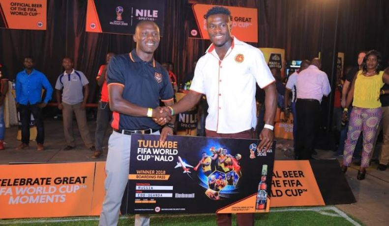 Pius Ogena is the first winner of an all expense paid trip to watch the World Cup in Russia.