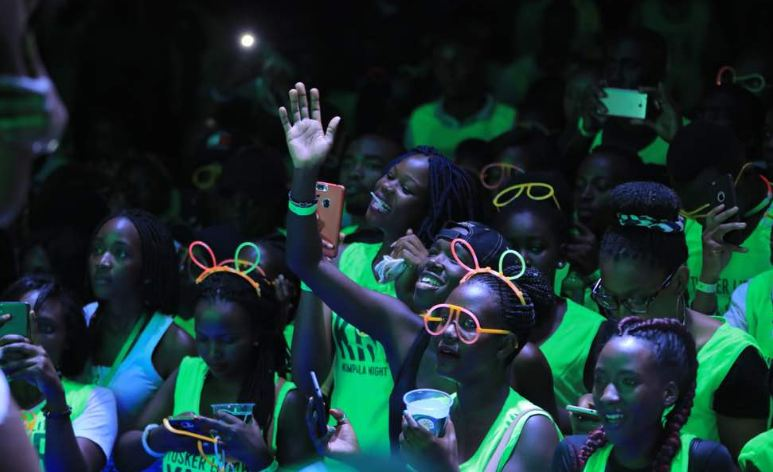 Kampala Night Run participants enjoy themselves at the after-party