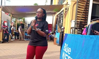 Sonia Karamagi Kassaga, Senior Marketing Manager Stanbic Bank, addressing media.