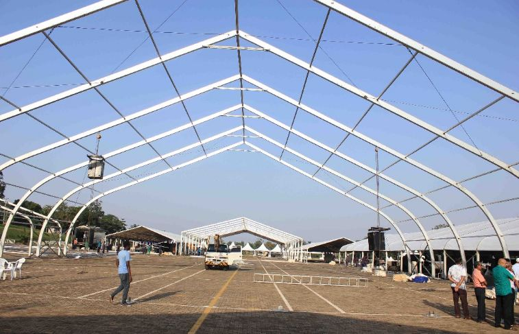 Golden Heart concert dome at Kololo airstrip