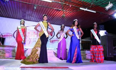 Miss Tourism queens on the runway during the West Nile Fashion Night .