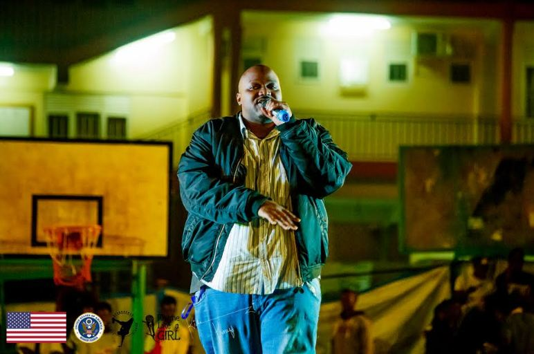 The Mith performing at Hip Hop Explosive concert at YMCA, Wandegeya