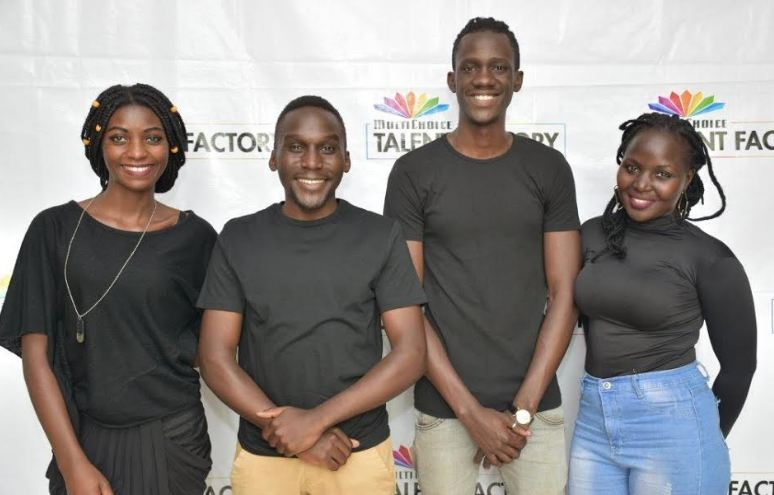 L-R: Cissy Nalumansi, Aaron Tamale, Casey Lugada, and Hilda Awori will represent Uganda in the MultiChoice Talent Factory.