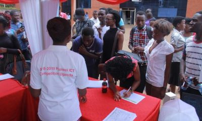 Makerere University Students registering for the competition at the Faculty of ICT.
