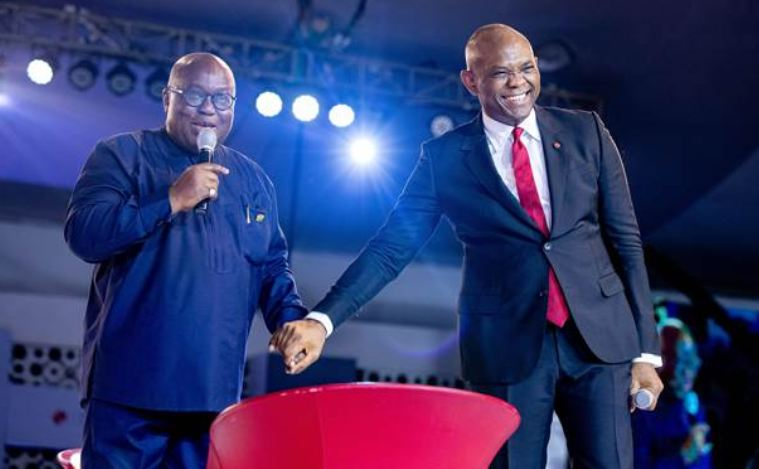Founder, The Tony Elumelu Foundation and  Chairman, UBA, Mr. Tony O. Elumelu and The President, Republic of Ghana, Dr, Nana Akufo- Addo, at the TEF Entrepreneurship Forum 2018 held in Lagos, Nigeria.