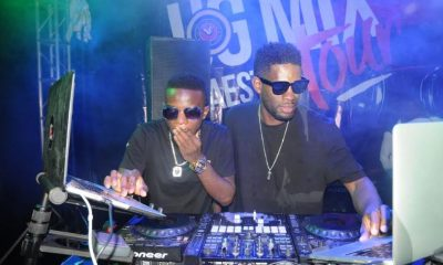 DJ Slick Stuart and Roja perform at at the UG Mix Maestro tour in Mbarara