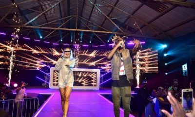 Vinka and Fik Fameica perform at Club Dome held at the MTN Ware House