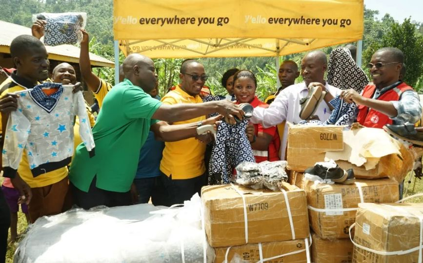 MTN Foundation has donated relief items to Bududa landslides victims.