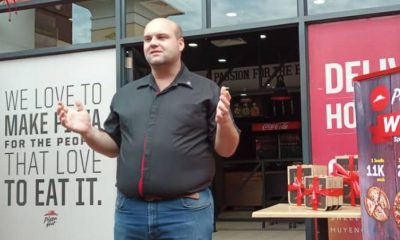 Travis Purcell, Head of Operations Pizza Hut Africa speaking during the media lunch held on Thursday.