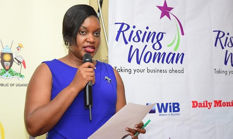dfcu WiB Manager, Victoria Byenka at the Rising Woman training in Kampala.