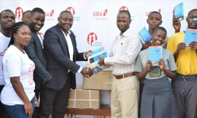 UBA staff donated literature books, agricultural material, planted trees at Bugema Adventist Secondary School last week.