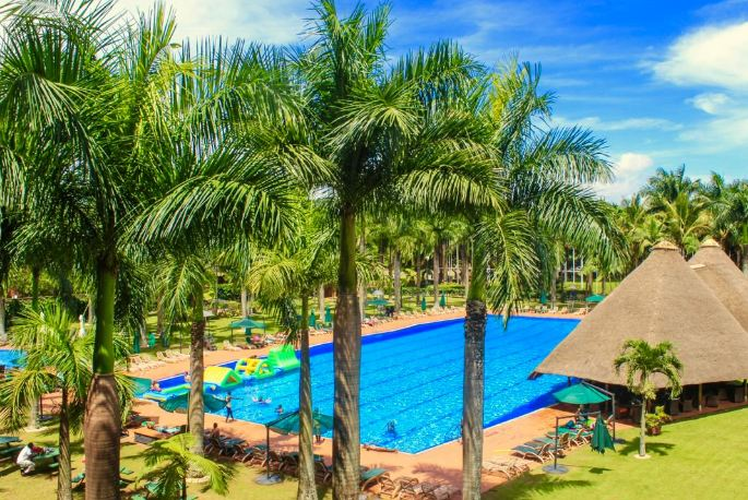 Speke Resort Munyonyo boasts of an Olympic size swimming pool.