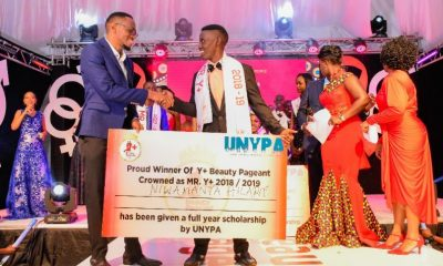 Niwamanya Hilary crowned winners in the Y+ Beauty pageant