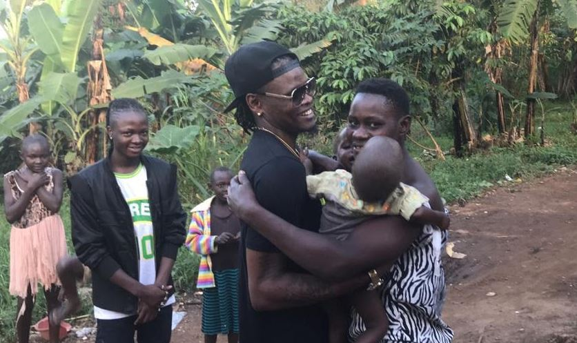 Pallaso marked his Christmas this year by giving back and spending time with the children of St. Paul's children's rehabilitation center in Kyampisi.