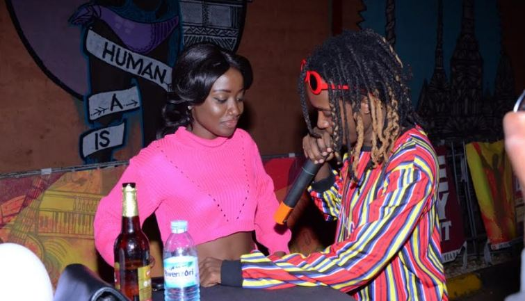 Feffe Bussi entertains guests during the Bell Jamz 2018 music countdown held at Design Hub on Friday