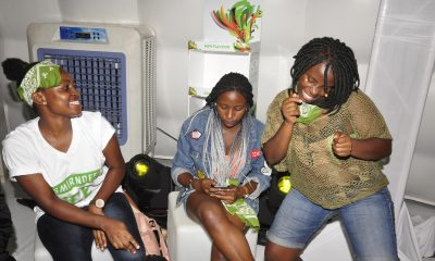 Revelers at the launch of Smirnoff Ice Green Apple Bite.