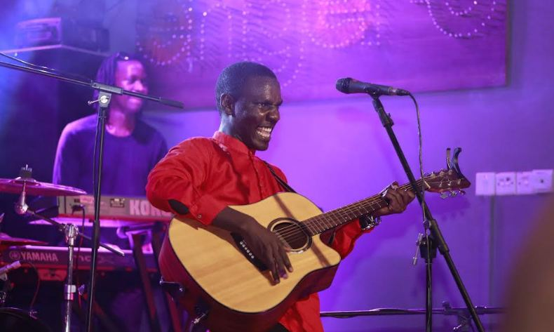 Kenneth Mugabi performs at the Johnnie Walker Unplugged show.