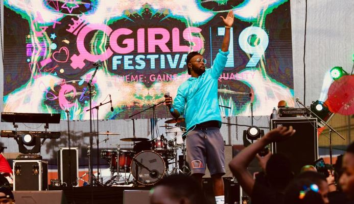Eddy Kenzo performs at the Girls Fest