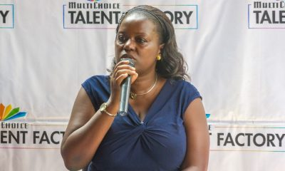 Filmmaker Mariam Ndagire speaks at the launch of the MTF online portal.