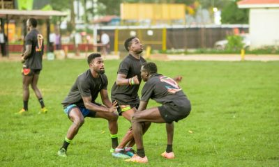 Uganda Rugby Cranes 7s team training