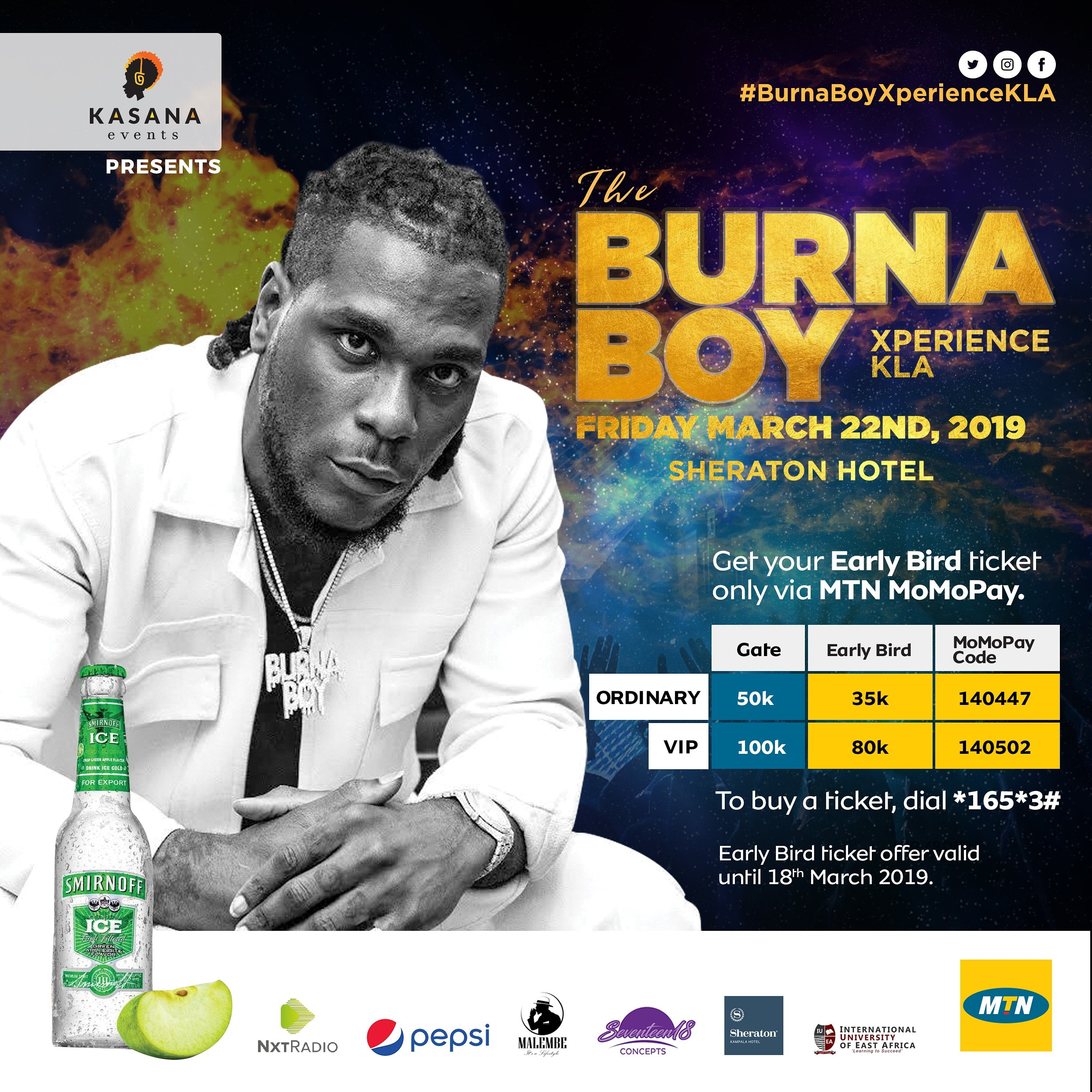 Burna Boy tickets already on sale, here is how to get yours