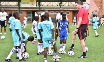 Manchester United coaches, Mike Neary and Chris O'Brien are in Kampala to conduct training with students from Excel Soccer Academy