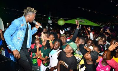 King Saha performs at the Neon Rave party in Fort Portal town