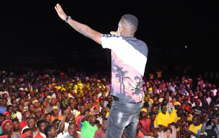 Hundreds turned for the concert at the Masaka Recreation grounds.