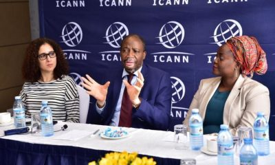 Pierre Dandjinou, ICANN VP of GSE in Africa, stresses a point during the media roundtable.