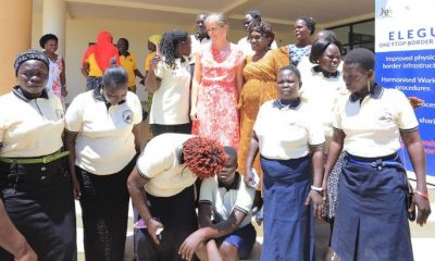 A group of Nimule Women Informal Cross Border Traders at a recent function at Elegu One Stop Border Post.