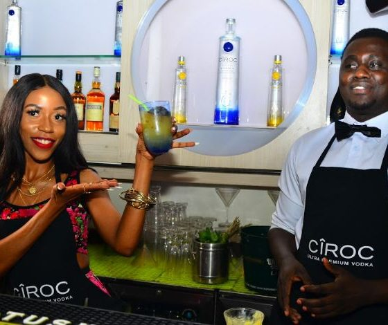 Vinka makes cocktails for revelers