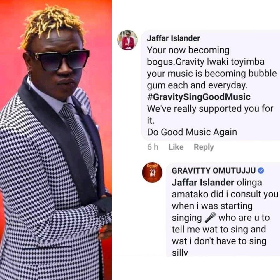 Rapper Gravity Omutujju Calls His Fan Buttocks. 1