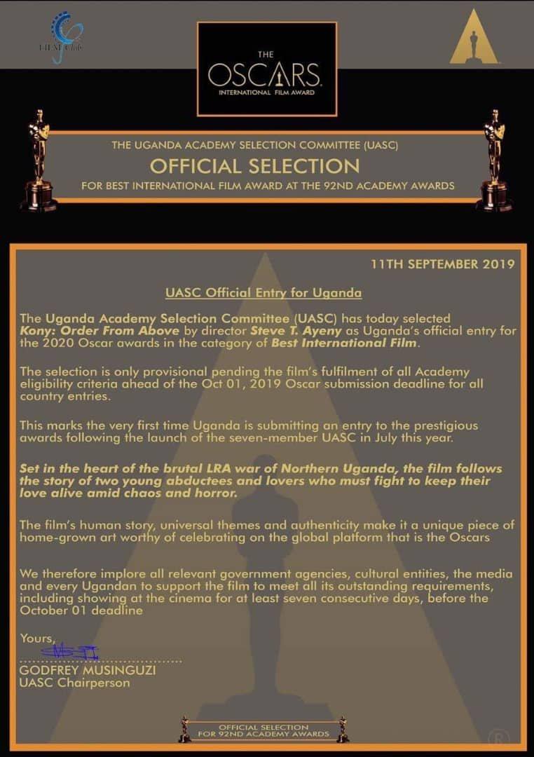 Ugandan Movie Gets First Ever Oscar Nomination In UG Film History. 6