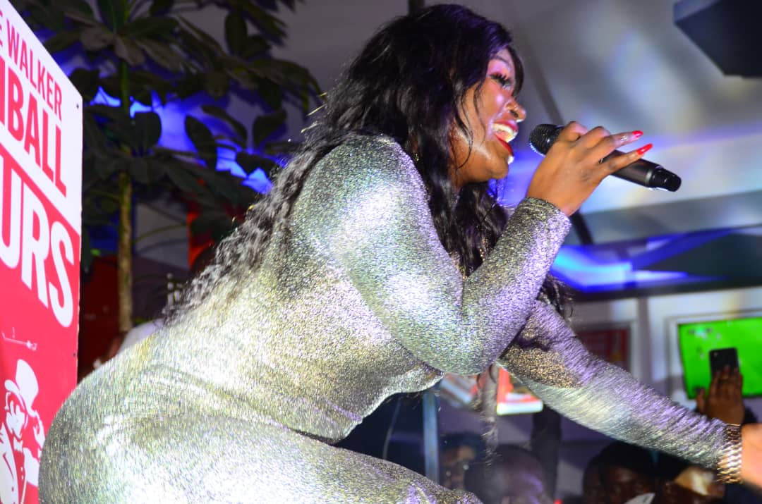 Winnie Nwagi performing at Highball Tour in Fort Portal