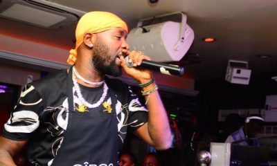 Eddy Kenzo entertains revelers at Club Guvnor during the Ciroc Pop Night.