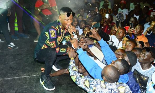 Chameleone thrills fans at the Highball tour in Masaka.
