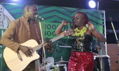 Kenneth Mugabi and Sandra Suubi perform at Route 256