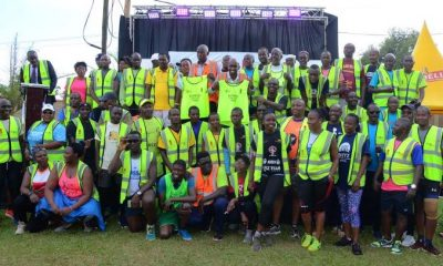 The runners participating the the Kampala Gulu Relay Marathon