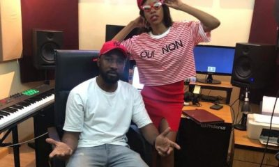 Vinka in studio with E Kelly.